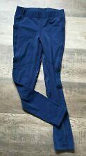 KERRITS - GIRLS LARGE  - NAVY BLUE ELASTIC WAIST FULL LEG TIGHTS BREECHES