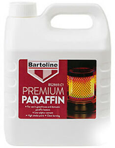 BARTOLINE PARAFFIN PREMIUM GRADE KEROSENE HEATER LAMP OIL FUEL 4L LITRE