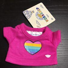 New ListingBuild A Bear Smallfry Buddies Mini Pink Rainbow Heart Tshirt Tee Shirt Top