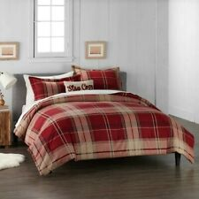 Cuddl Duds Home Red Plaid Flannel Comforter Set - 4-piece - Full/Queen MSRP $199