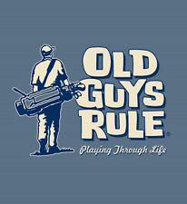 "Old Guys Rule Playing "" Through "" Life Golf Clubs Bag Balls Irons S/S L"