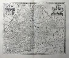 BADEN WÜRTTEMBERG SCHWABEN WIRTENBERG DUCATUS JANSSONIUS KUPFERSTICHKARTE 1645