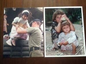 2 photos Royal Marines Kurdish children Iraq Operation Haven Gulf War 1991