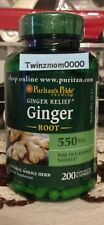 Ginger Root 550mg *200* Capsules Nausea Motion Sickness Relief