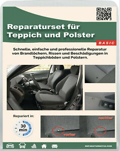 Teppich Polster Autositz KFZ Stoff Brandloch Reparatur Set Smart Repair 20-tlg