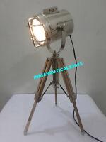 Antique Retro Spot light Designer Vintage Nautical Table lamp Tripod Home Decor