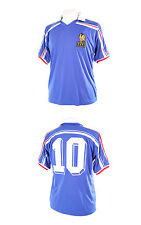 FRANCE RETRO 1986 WORLD CUP NUMBER 10 (PLATINI) HOME BLUE FOOTBALL SHIRT XXL NEW