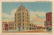 City Building in Champaign IL Postcard