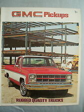 GMC Pickups brochure 1980