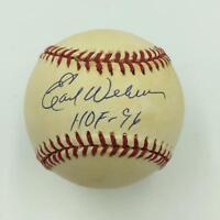 "Earl Weaver ""Hall Of Fame 1996"" Signed American League Baseball With PSA DNA COA"