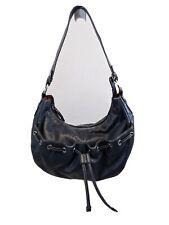WILSONS LEATHER Shoulder SATCHEL HOBO Purse Bag Handbag BLUE Leather Medium