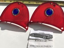 NEW PAIR OF 1957 CHEVROLET BEL AIR / 150 AND 210 BLUE DOT TAIL LIGHT LENS !