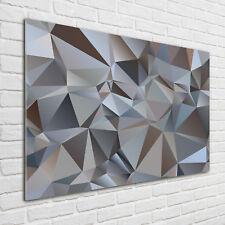 Glas-Bild Wandbilder Druck auf Glas 125x50 Deko Kunst Abstrakte Dreiecke