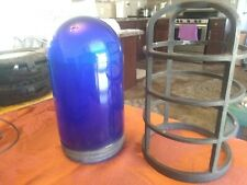 Vintage industrial explosion proof light & cage