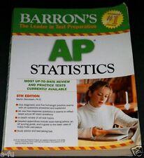Barron's AP STATISTICS Test Preparation Book 5th Edition In Very Good+ Shape