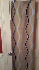 Creative Bath Shower Curtain Geometric Design Tan Navy 100% Cotton New 68x71