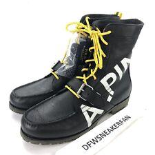 Polo Ralph Lauren Ranger Alpine Men's 14 Leather Boots Polo HI Tech New Black