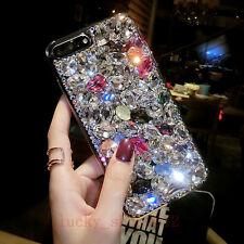 Handmade Fashion Bling Diamond Rhinestones Jewelled Hard Back Phone Case Cover