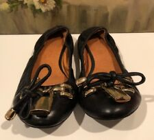 Women's Aldo Flats, Size 36 Or 6, Black, Bow And Locket