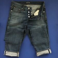 NEW Tom Ford Straight Vintage Wash Selvedge Denim Jeans - 30x34