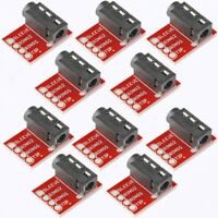 10Pc TRRS Connector 3.5mm Breakout Headphone Video Audio MP3 Jack for Microphone