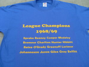 Leeds United Heroes T-Shirt 1969 1974 & Billy Bremner 4xl & 5xl Christmas Gift