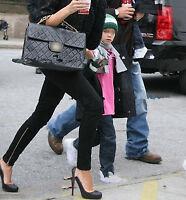 NEW Women Lady Black Zipper Zip on leg Slim Skinny Pants
