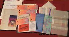 Souvenir programs, plans, Amtrak Ticket & tickets 1984 Olympics in Los Angeles