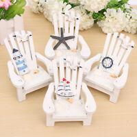 KQ_ FP- HB- Mini Dollhouse Wood Chair Ornament Sea Beach Garden Fairy Furniture