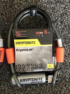 Kryptonite Kryptolok Mini 7 Bike U Lock with Flex Cable & Flexframe Bracket