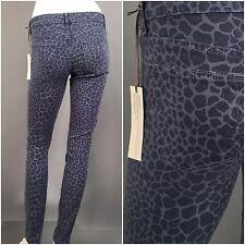 Rich & Skinny NWT : 26 : Leopard Giraffe Animal Print Denim Skinny Slim Jeans