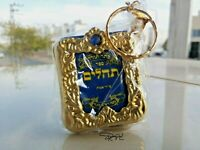 Psalms Mini Tehilim Israel Keychain Jewish Gold Prayer Hebrew Tehillim Judaica