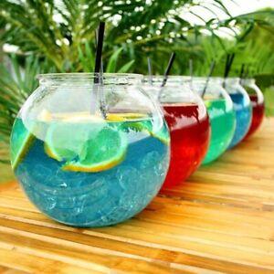 4 X COCKTAIL  FISH BOWL PLASTIC 3L 5 PINT WEDDING HEN PARTY HAWAIIAN SWEET JAR