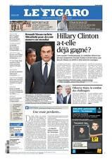 Le Figaro 21.10.2016 N°22456*CLINTON a-t-elle déjà gagné?*Carlos GHOSN*POLICE