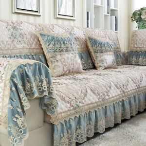 Jacquard Luxurious Cover Sofa Cushion Lace Fold Grain Combination Sofa Towel Set