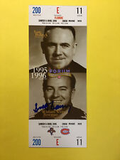 Scotty Bowman Montreal Canadiens Ticket Autograph Signed Auto