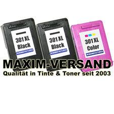 3 Cartridges Ink Set for hp 301 XL Deskjet 2050 2050A 3000 3050 Black Color