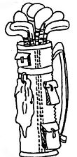 Unmounted Rubber Stamps, Sports Stamps, Golf Clubs, Golf Bag, Golf Stamps, Golf