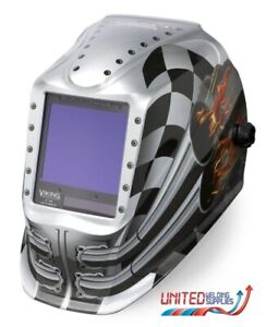 Lincoln Viking 3350 4C Motorhead Auto Darkening Welding Helmet, 3 Year Warranty