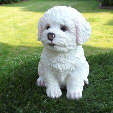 Gartenfigur Hund Welpe Malteser Bichon Frise 3243 Westi Garten Deko Figur