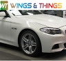 BMW 5 SERIES 2010 to 2017 F10  F11 DRIVER O/S Wing ALPINE WHITE