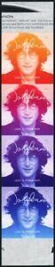 5315b, RARE Imperforate Error Strip of Four John Lennon Stamps - Stuart Katz