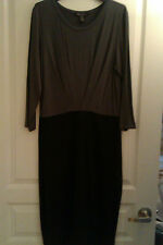NWT Women's Kenneth Cole Dress, Black Gray Size M