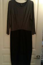 NWT Women's Kenneth Cole Dress, Black Gray Size M