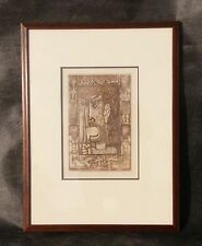 Janos Kass (1927-2010 ) Modern Expressionist Lithograph Signed No. 11/14