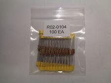 Resistors 100k Ohm 5 R02 0104 Set Of 100 Each New Last Ones