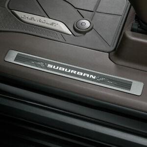 2021 Chevrolet Suburban Illuminated Door Sill Plate Pkg 84507712 Front & Rear OE