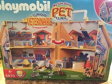 Playmobil 5870 My Take Along Pet Clinic Veterinarian Retired NRFB RARE