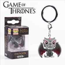 Hot Funko POP Pocket Keychain Game of Thrones Dragon PVC Keyfob Keyring With Box