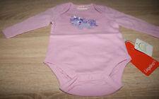 Liegelind Baby-Mädchen-Body langarm rosa GR.50/56 NEU mit Etikett